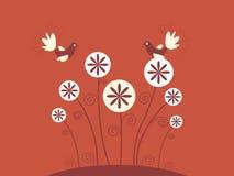 Abstrakte Blumenauslegung Stockbilder