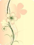 Abstrakte Blumenauslegung mit Anlagen Lizenzfreie Stockfotografie