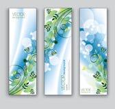 Abstrakte Blumenfahnen. Hintergründe des VektorEps10. Lizenzfreie Stockfotos