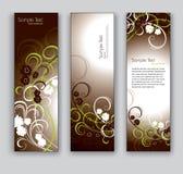Abstrakte Blumenfahnen. Hintergründe des VektorEps10. Stockfotografie