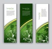 Abstrakte Blumenfahnen. Hintergründe des VektorEps10. Stockbild