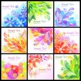 Abstrakte Blumenhintergründe Stockbild