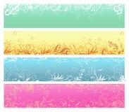 Abstrakte Blumenhintergründe Lizenzfreie Stockfotos