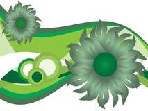 Abstrakte Blumennatur lizenzfreie abbildung