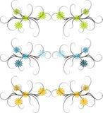 Abstrakte Blumenränder Stockfoto