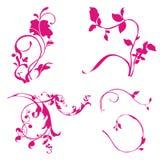 Abstrakte Blumenverzierung Stockbilder