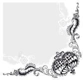Abstrakte Blumenverzierung, Vektor Stockbild