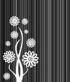 Abstrakte Blumenzeilen Abdeckung stock abbildung