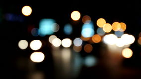 Abstrakte bokeh Bewegung, Ampel bokeh nachts stock video footage