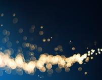Abstrakte Bokeh-Lichter auf blauem Hintergrund Lizenzfreies Stockbild