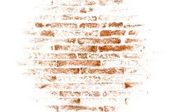Abstrakte braune Backsteinmauer auf weißem Hintergrund Lizenzfreie Stockfotografie