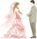 Abstrakte Braut und Bräutigam Stockbild