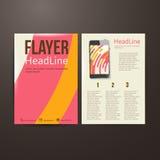 Abstrakte Broschüren-Fliegerdesign-Vektorschablone Lizenzfreie Stockbilder