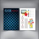 Abstrakte Broschüren-Fliegerdesign-Vektorschablone Lizenzfreies Stockbild