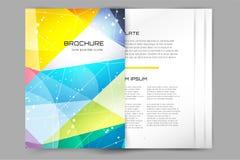 Abstrakte Broschüren- oder Fliegerdesignschablone Stockfotografie