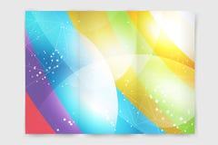 Abstrakte Broschüren- oder Fliegerdesignschablone Lizenzfreies Stockfoto