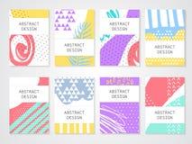 Abstrakte bunte backgronds eingestellt Hand gezeichnete Schablonen für Karte, Flieger und Einladung entwerfen vektor abbildung