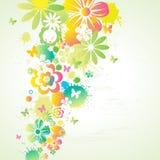 Abstrakte bunte Blumen. Stockfotografie