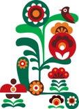 Abstrakte bunte Blumen mit Vogel Lizenzfreies Stockfoto