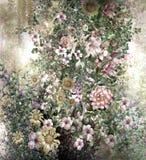 Abstrakte bunte Blumenaquarellmalerei Frühling mehrfarbig Stockfoto