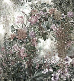 Abstrakte bunte Blumenaquarellmalerei Frühling mehrfarbig Stockbild