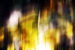 Abstrakte bunte goldene dunkelorangefarbige weiße phosphoreszierende grüne rote blaue klare Schatten, abstrakte Beschaffenheit Stockbilder