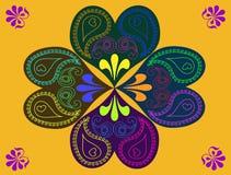 Abstrakte bunte Herzblume kritzelt Hintergrund Stock Abbildung