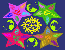 Abstrakte bunte Herzblume kritzelt Hintergrund Vektor Abbildung