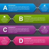 Abstrakte bunte infographic Wahlfahne Vier Schneeflocken auf weißem Hintergrund Lizenzfreies Stockfoto