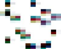 Abstrakte bunte klare Quadratformen, -graphiken, -geometrie, -hintergrund und -beschaffenheit lizenzfreie abbildung