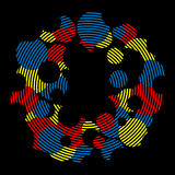 Abstrakte bunte Kreise auf schwarzem Hintergrund Lizenzfreies Stockbild