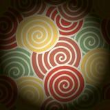 Abstrakte bunte Kurve und um Kreis, Hintergrund vektor abbildung