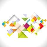 Abstrakte bunte moderne geometrische Schablone; Illustration Lizenzfreie Stockfotografie