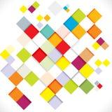 Abstrakte bunte moderne geometrische Schablone, Illustration Stockfoto