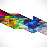 Abstrakte bunte moderne geometrische Schablone, Vektor Lizenzfreie Stockfotos
