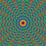 Abstrakte bunte optische Täuschung, kreativer Vektor vektor abbildung