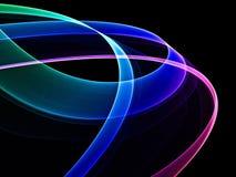 Abstrakte bunte Ringe lizenzfreie abbildung