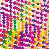 abstrakte bunte Sternchen-Vereinbarung Stockbild