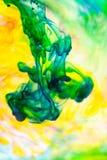 Abstrakte, bunte Tintenformen lizenzfreies stockbild