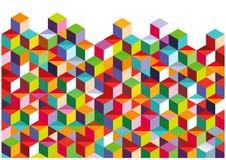Abstrakte bunte Wand Lizenzfreies Stockbild