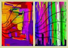 Abstrakte bunte Zusammensetzungen Lizenzfreie Stockbilder