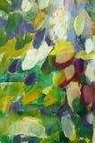 Abstrakte chaotische Flecke der multi farbigen Acrylfarbe Stockbild