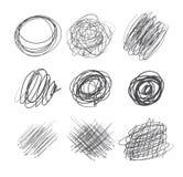 Abstrakte chaotische runde Skizze Lizenzfreies Stockfoto
