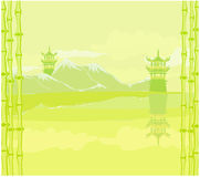 abstrakte chinesische Landschaft stock abbildung