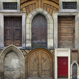 Abstrakte Collage von alten Türen Stockfotografie