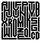 Abstrakte Collage von den Buchstaben des Alphabetes von A zu Z stock abbildung