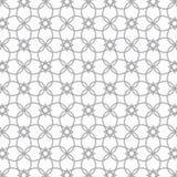 Abstrakte dünne Linie der Blume und des Sternes kreuzte jedes, ist Muster sauber und fähig stimmen Sie eigenhändig überein stock abbildung