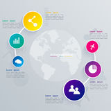 Abstrakte 3D digitale Illustration Infographic Stock Abbildung