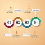 Abstrakte 3D digitale Illustration Infographic Stockbild