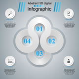 Abstrakte 3D digitale Illustration Infographic Lizenzfreies Stockfoto